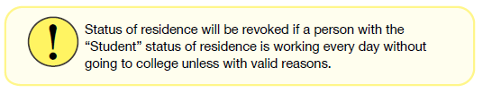 Status of residence will be revoked if a person with the